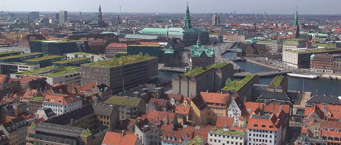 Treehugger reports that in May of this year, Copenhagen made green roofs mandatory on all new buildings with roof slopes...
