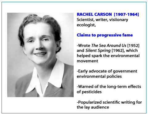 contribution rachel carson Hi rachel louise carson (may 27, 1907 - april 14, 1964) was an american marine biologist and nature writer whose writings are credited with advancing.