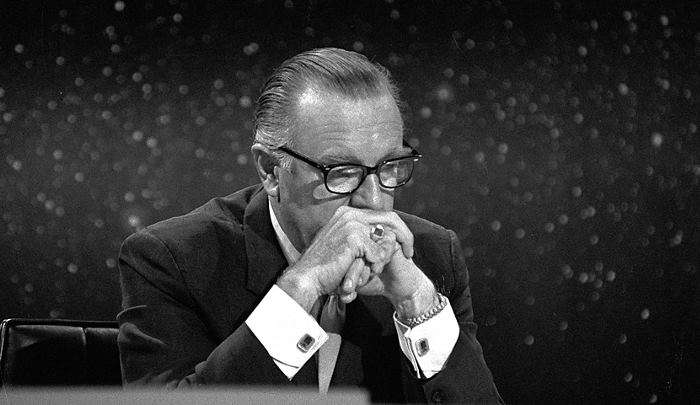 Walter Cronkite Watches Moon Landing