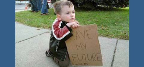 Child at Occupy Wall st