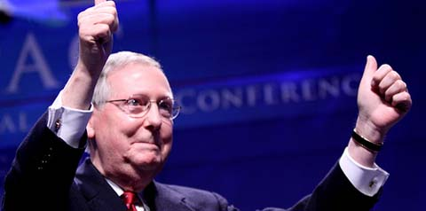 mcconnell hands raised