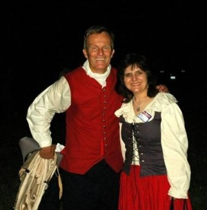 Todd Akin and a fellow Republican dressed for the times at one of Akin's Fourth of July bashes.